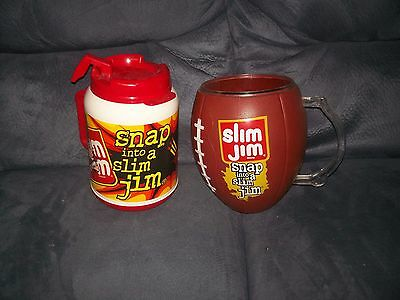 Vintage Lot Of 2  Huge Slim Jim Retail Store Football Display Holder