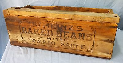 Antique Advertising Wood Box 1930's H.J. Heinz Co. Baked Beans and Tomato Sauce