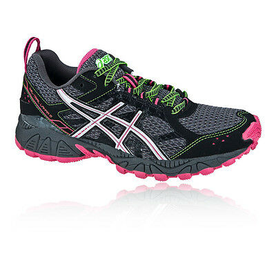 Asics Gel Trail Lahar Womens Grey Black Waterproof Trail Running Shoes Trainers