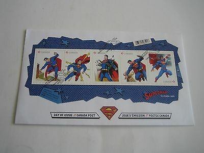 Canada Post Day Of Issue Superman 75 Years Stamps