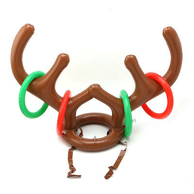 Inflatable Deer Head ring Ring Ring Toy Throw Throwing Children Outdoor Game