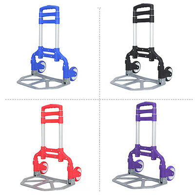 Cart Folding Dolly Push Truck Hand Collapsible Trolley Luggage Aluminium 170 lbs