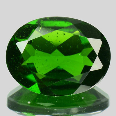 Excellent 1.18Cts Natural Green Chrome Diopside Oval Loose Gemstone