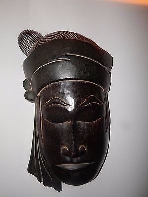 """Antique Indonesian 15"""" Wooden Mask"""