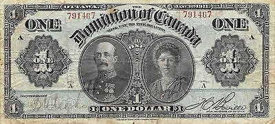 Dominion of Canada  $1  1.3.1911  P 27a  Series A circulated Banknote