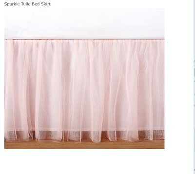 Pottery Barn Kids NWT Sparkle Tulle Bedskirt Twin Size *Beautiful*