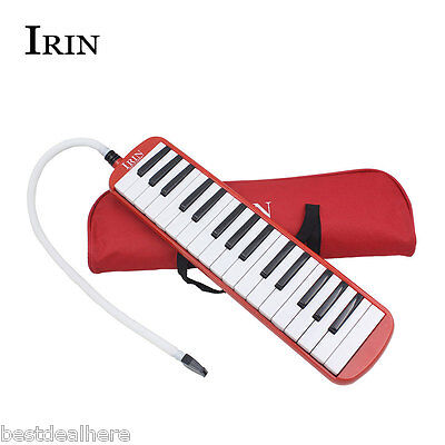 IRIN 32 Piano Key Melodica Student Class Harmonica Music Instrument with Bag Red