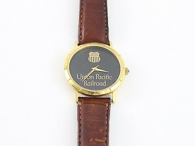 Vintage Union Pacific UP Wrist Watch in Case 18k Micron Gold Plate Hong Kong