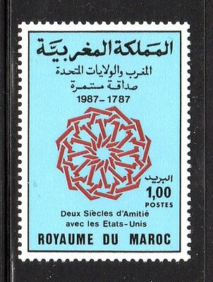 us stamp #2349 companion stamp Morocco 642   MNH  JOINT ISSUE