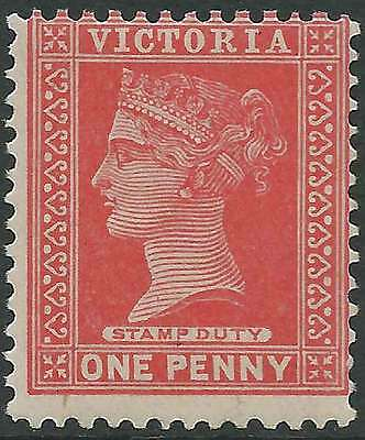 VICTORIA 1890-1900 inscribed Stamp Duty 1d Red ACSC 75c fine lightly hinged mint