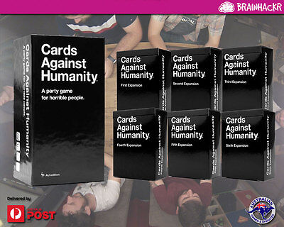 Cards Against Humanity AU core set and six expansions