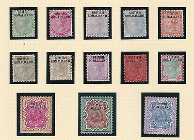 Somaliland 1903   S G  1 - 13  Set Of 13 To 5 R   M H  Cat £130.00