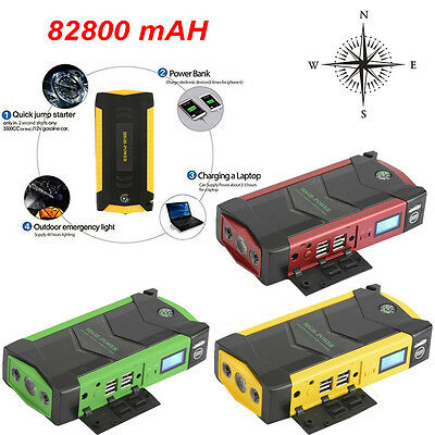 82800mAh Multifunction Jump Starter Car Booster Power Bank Charger Minimax