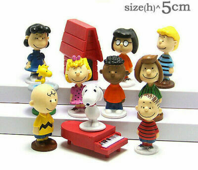 12Pcs Peanuts Snoopy Action Figure Set Kids Figurines Doll Toy Cake Topper Decor