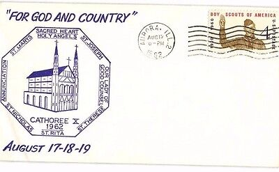 Boy Scouts Of America 1962 Cover Aurora, Il Cathoree X,for God And Country