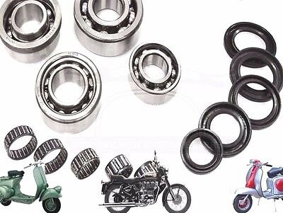 Lambretta Gp Li Sx Tv Engine Bearing&oil Seal Kit Ser 1 2 3 125 150 200 Spares2U