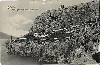 1914 Postcard GIBRALTAR The Lighthouse and Europa Point