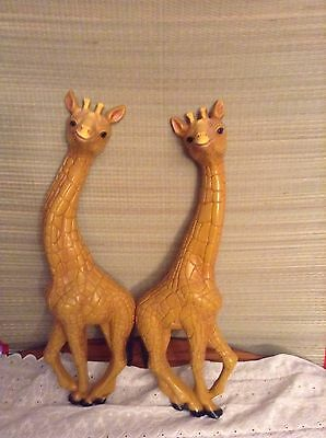 Vintage Pair Of HOMCO Wall Hanging Giraffes!!! FREE SHIPPING!!!