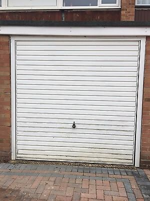 White Up and Over Single Garage Door with Key and Frame - Winnersh
