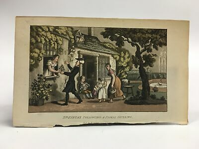 Ack. Lamenting The Loss Of His Wife~doctor Syntax Hand Colored Engraving Buy One Give One 1823