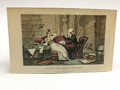 Funeral Of~doctor Syntax Hand Colored Engraving 1823 Ackermann