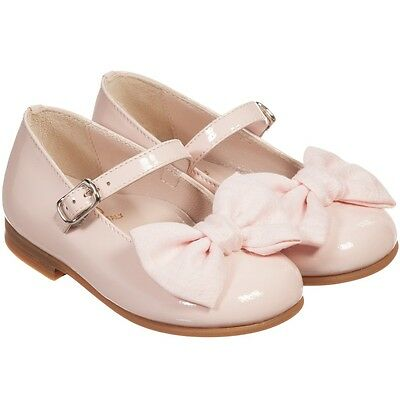 Il Gufo Baby Girls Pink Patent Leather Bow Shoes Eu 21 Uk 4.5