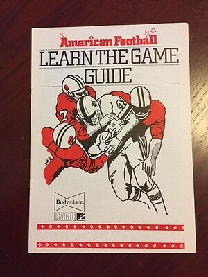 American Football Learn the game 8 pages A4