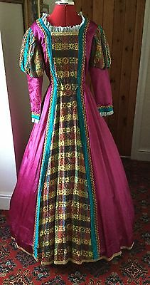 Ladies Tudor Style Theatrical Stage Costume By Homburgs