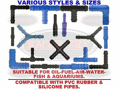 Nylon Barbed Silicone Hose Connector Fuel Pipe Joiner Water Air