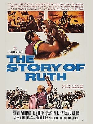 "The Story of Ruth 16"" x 12"" Reproduction Movie Poster Photograph"