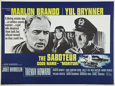 "The Saboteur 16"" x 12"" Reproduction Movie Poster Photograph"