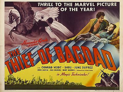 "The Thief of Bagdad 16"" x 12"" Reproduction Movie Poster Photograph"