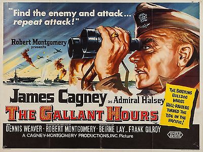 "The Gallant Hours 16"" x 12"" Reproduction Movie Poster Photograph"