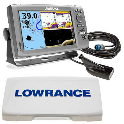 Kit Lowrance Eco/GPS Hook-9 Trasduttore DownScan + Sun Cover Schermo #62130105