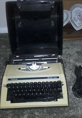 Brother Electric Portable Typewriter with case, retro typewriter,rare typewriter
