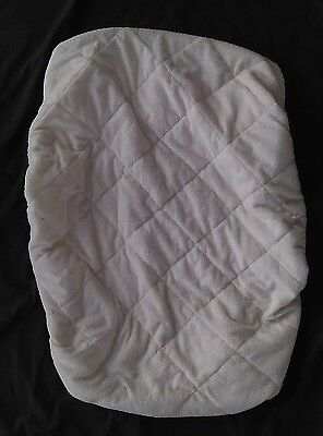 Used Eddie Bauer Tan Quilted Playpen Pad Cover