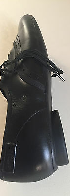 Clarks Bootleg Girls Black Leather Lace Up School Shoes 3 G