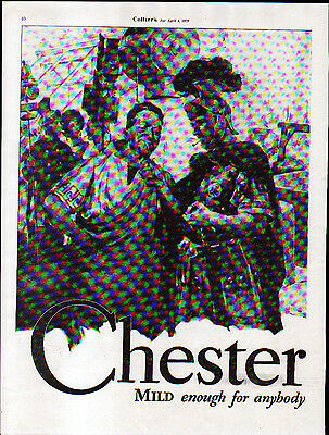 1929 CHESTERFIELD AD- LIGGETT & MYERS TOBACCO CO.- SIDE by SIDE ADS