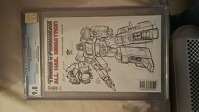 Transformers IDW All Hail Megatron #2 RI CGC graded 9.8 White Pages