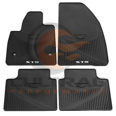2017 2018 Cadillac XT5 GM Front & Rear All Weather Floor Mats Black 84072385