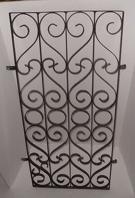 Vintage Scrolled Wrought Iron Window Door Gate Guard Panel Parts Salvage Art