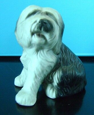 Old English Sheepdog Figure Ornament. Excellent Condition.
