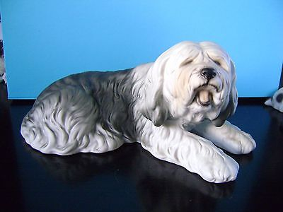 Large Old English Sheepdog Figure Ornament. Excellent Condition.