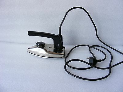 VINTAGE USSR Soviet Russian electric folding travel iron with thermoregulator