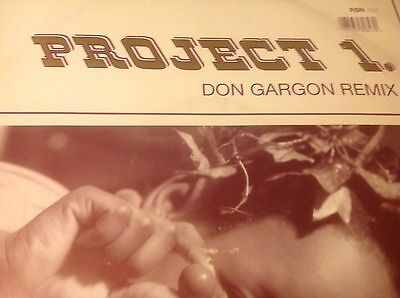 "Project 1-Don Gargon Remix 12"" Vinyl Old Skool Hardcore 1992 Rising High Records"