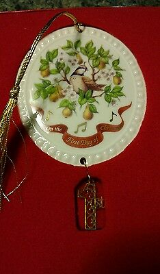 Lenox First Day Of Christmas Ornament Made In USA