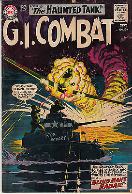 G.I. COMBAT #104 (DC, Feb/Mar 1964) POOR (page missing)  * Grey-tone cover *
