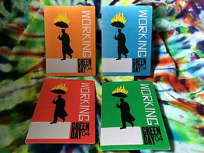 Green Day 2004 Tour Complete Set Of 4 Crew Worker Backstage Passes