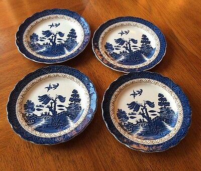 4 x Booths Real Old Willow Side Plates