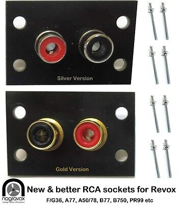 Revox RCA sockets panel  B77, F36, G36, B710, B750, B740 & others
